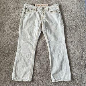 Rock Revival Dan Straight Jeans Size 38x30 Mens